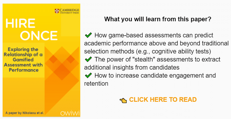 The Owiwi Blog - Candidate Assessment Tools